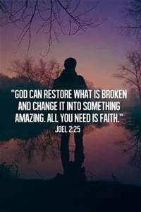 God can restore - Joel scripture