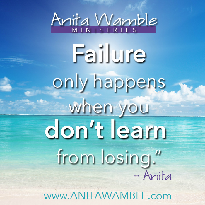 Failure happens when you dont learn poster