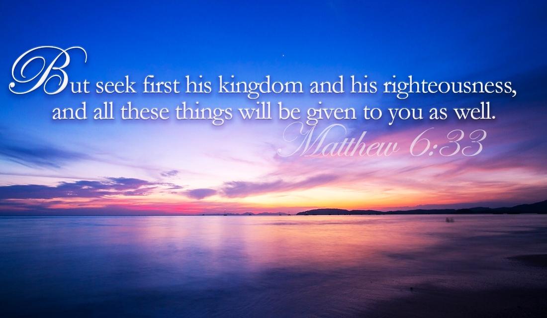 Matthew 6 33